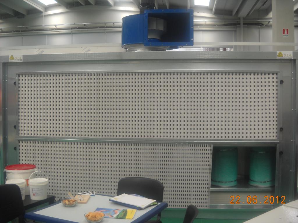 Plafoniere Per Cabine Di Verniciatura : Cabina di verniciatura a secco con carboni attivi marca sia